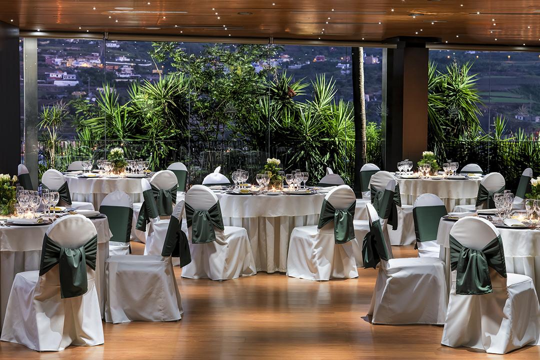 Sala eventos montaje banquete