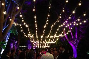 Rosario de luces para boda