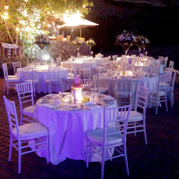 Iluminación del banquete